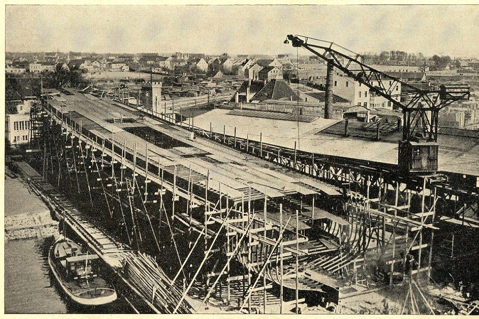 Elingas ir P. Lindenau laivų statykla, įkvėpę menininkus