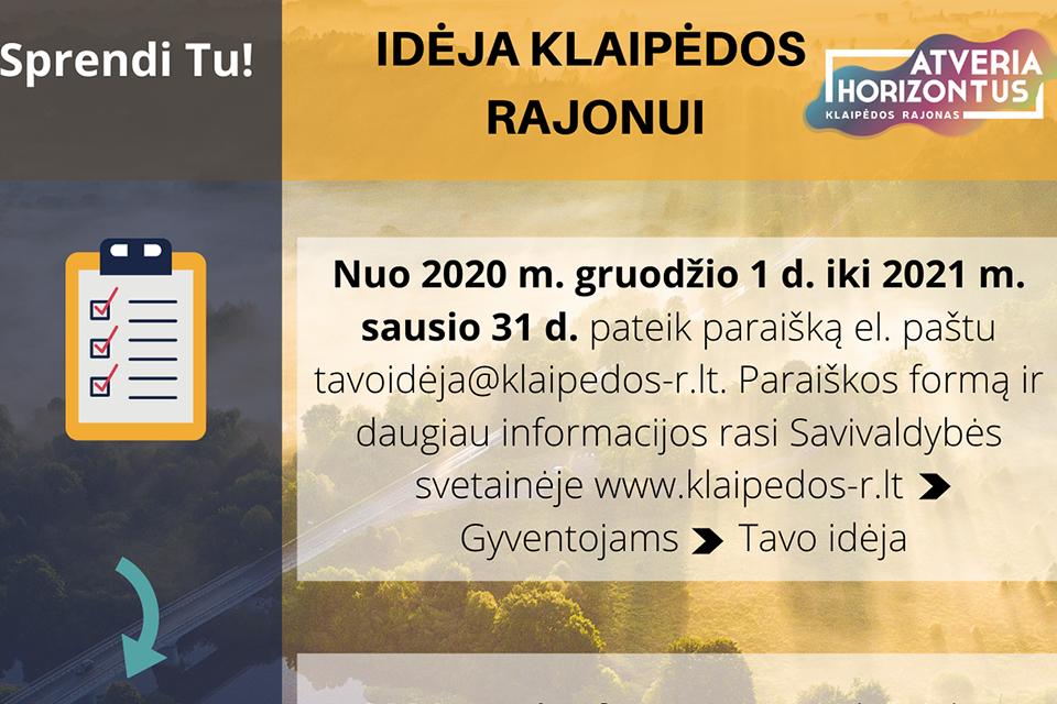 Dalyvaujamasis biudžetas – ir Klaipėdos rajone