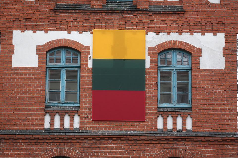 Klaipėdos universitetą papuošė trispalvė