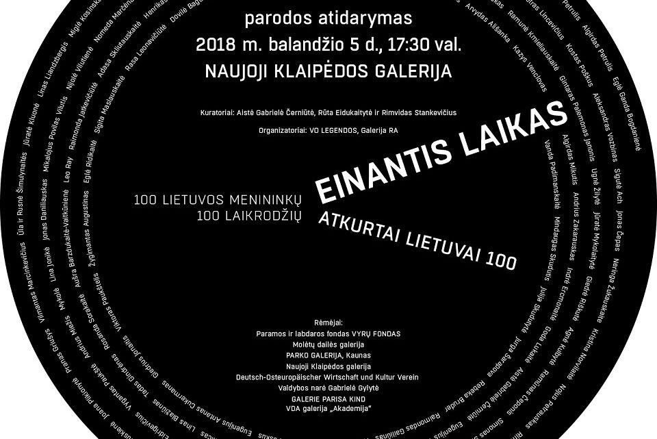 Einantis laikas: 100 menininkų – 100 laikrodžių