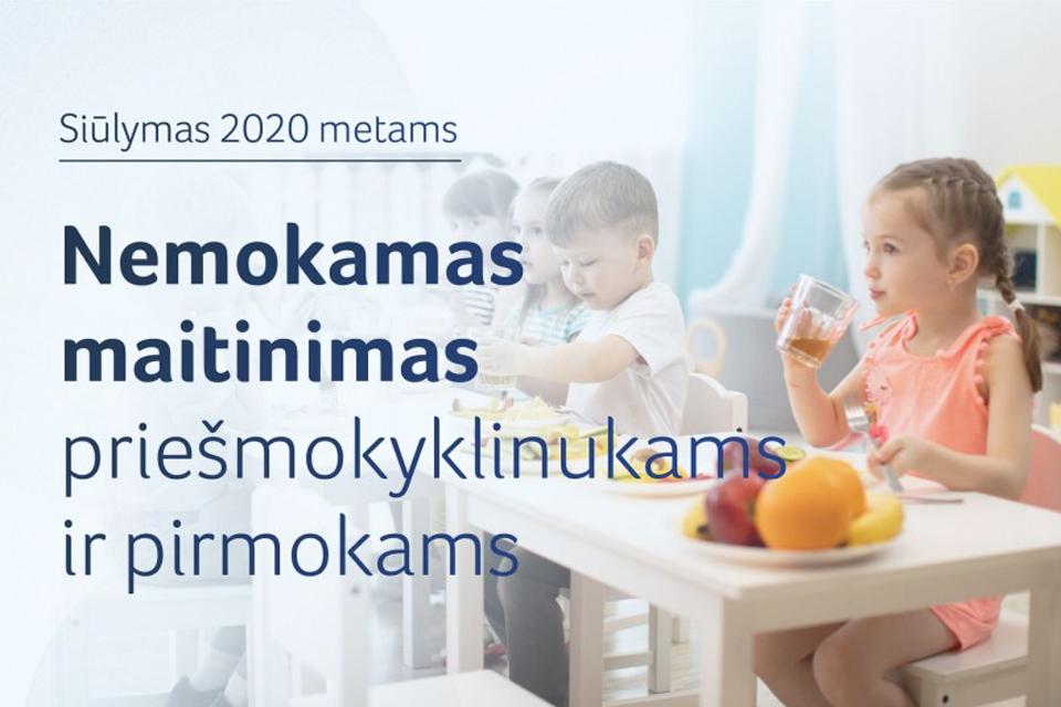 Siūlomo nemokamą maitinimą priešmokyklinukams ir pirmokams