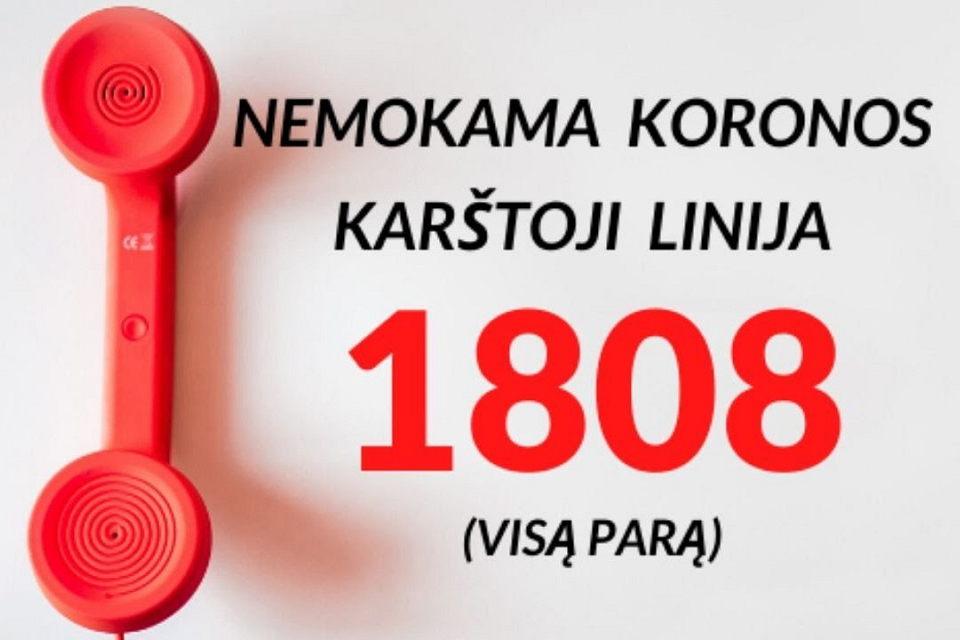 Telefonu 1808 – skambučių antplūdis