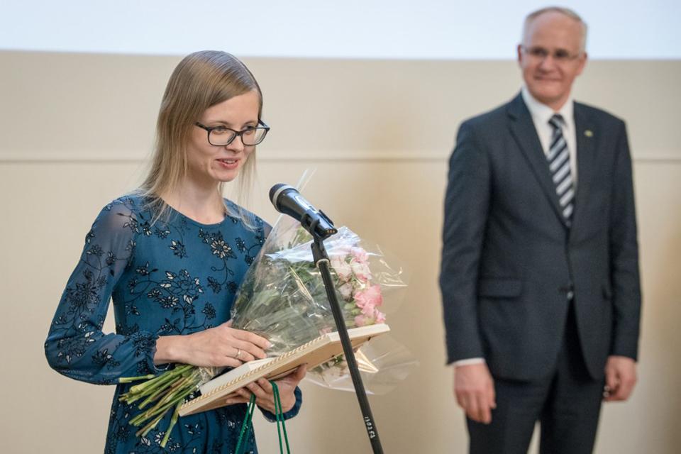 Klaipėdietei įteikta Metų mokytojos premija