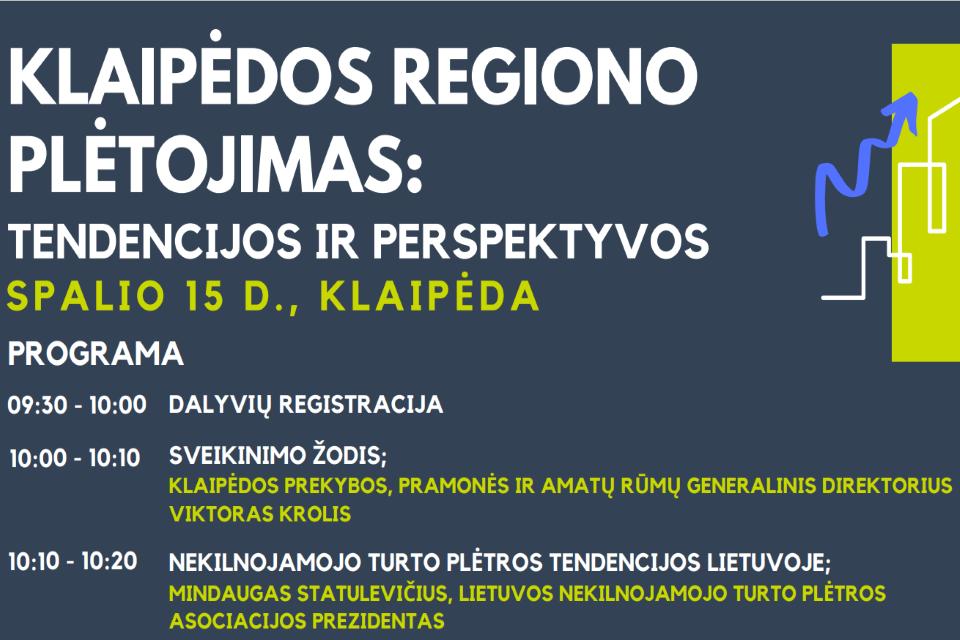 Verslo konferencija apie Klaipėdos regiono plėtrą
