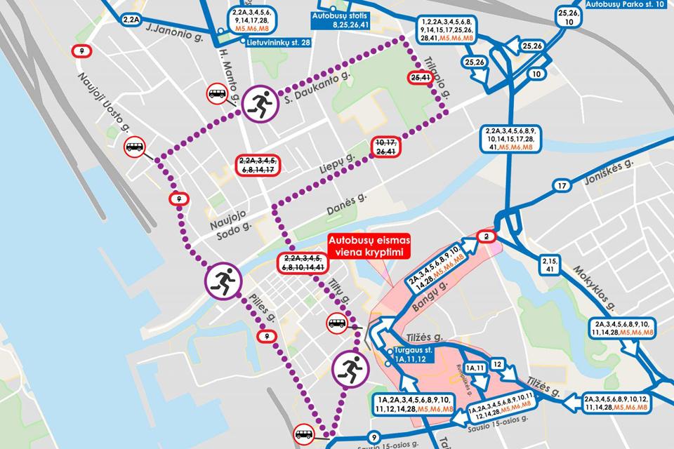 Sekmadienį – autobusų maršrutų ir eismo pokyčiai