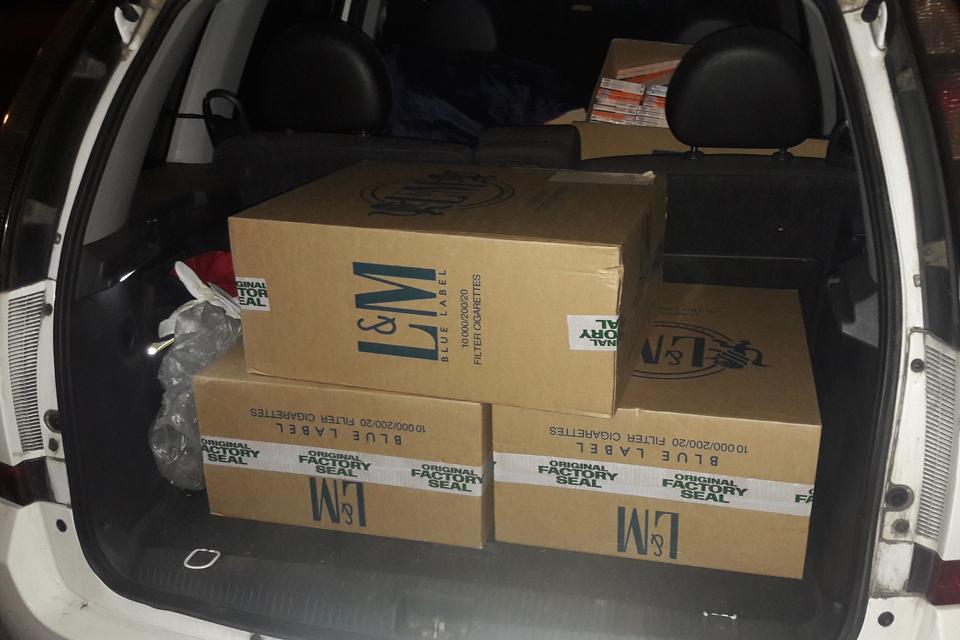 Kontrabandą gabeno su žmonos automobiliu