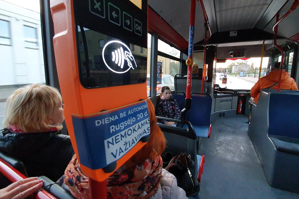 Autobusai vėl vežė nemokamai
