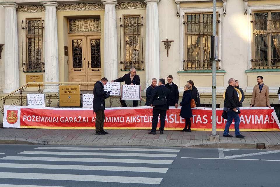 Protestai Atgimimo aikštės rekonstrukcijos projekto nesustabdė