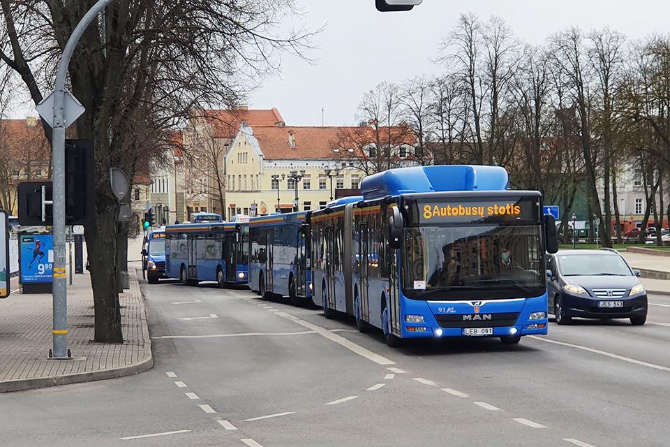 Nemokamos kelionės miesto autobusais – tik vieną dieną