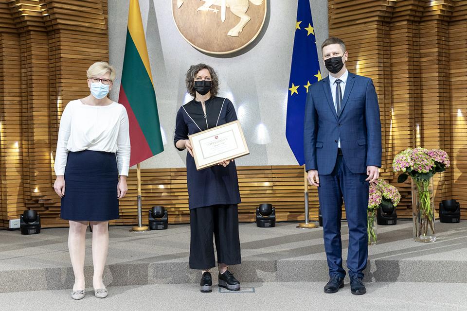 Agnijai Šeiko įteikta Vyriausybės kultūros ir meno premija