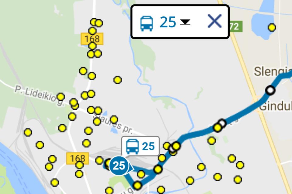 Pokyčiai N1 ir 25 maršrutuose