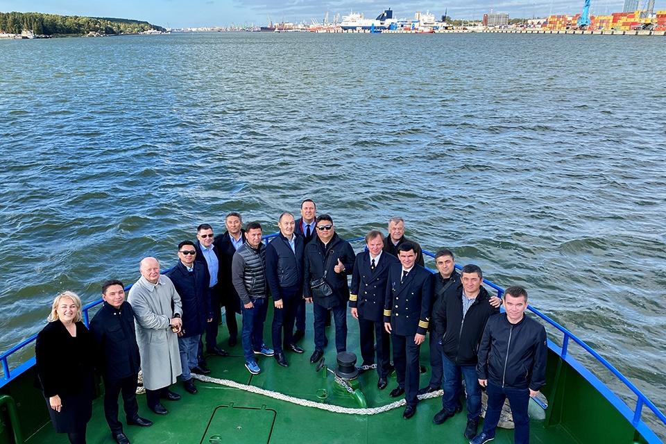 Klaipėdos uoste – svečiai iš Kazachstano ir Uzbekistano