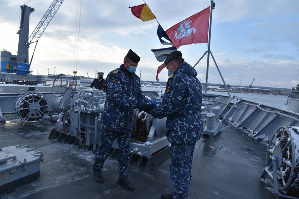 Vadovavimą NATO laivų grupei Lietuva perdavė  Nyderlandams