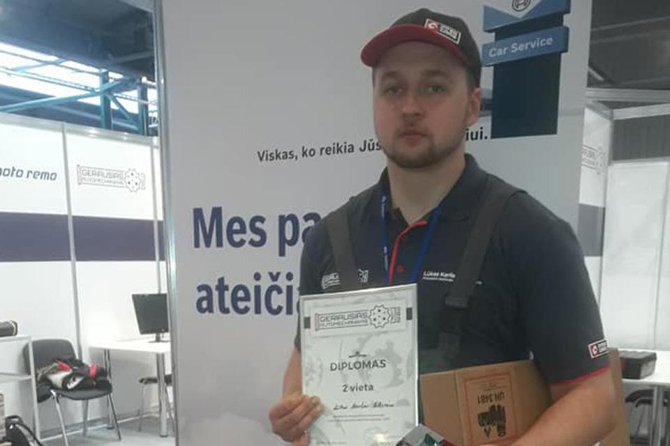 Klaipėdos paslaugų ir verslo mokyklos mokinys – tarp geriausių automechanikų