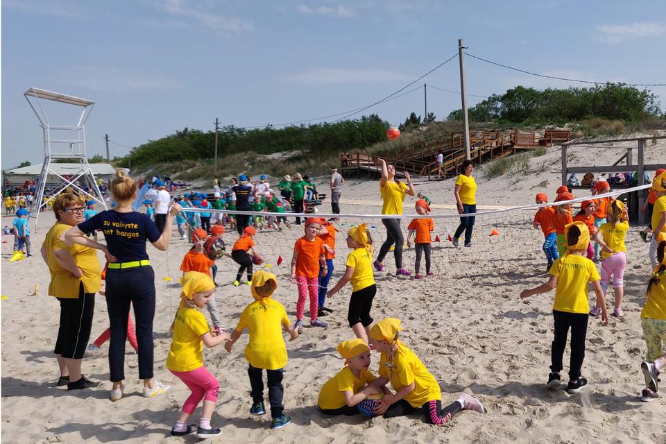 Melnragėje – ryškiaspalvė ikimokyklinukų sporto šventė