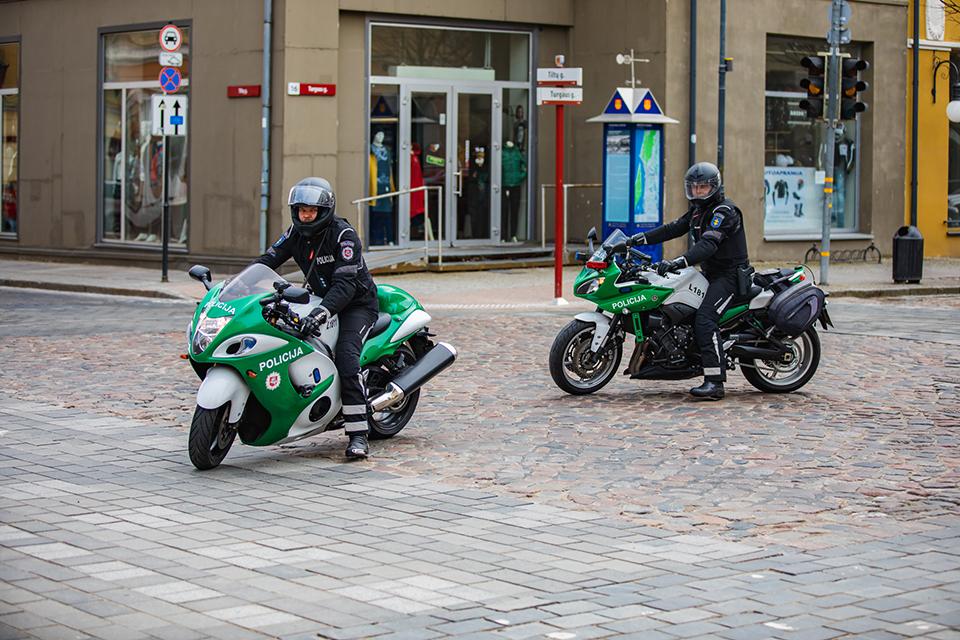 Klaipėdos apskrities kelių policija jau pradėjo patruliuoti ir motociklais