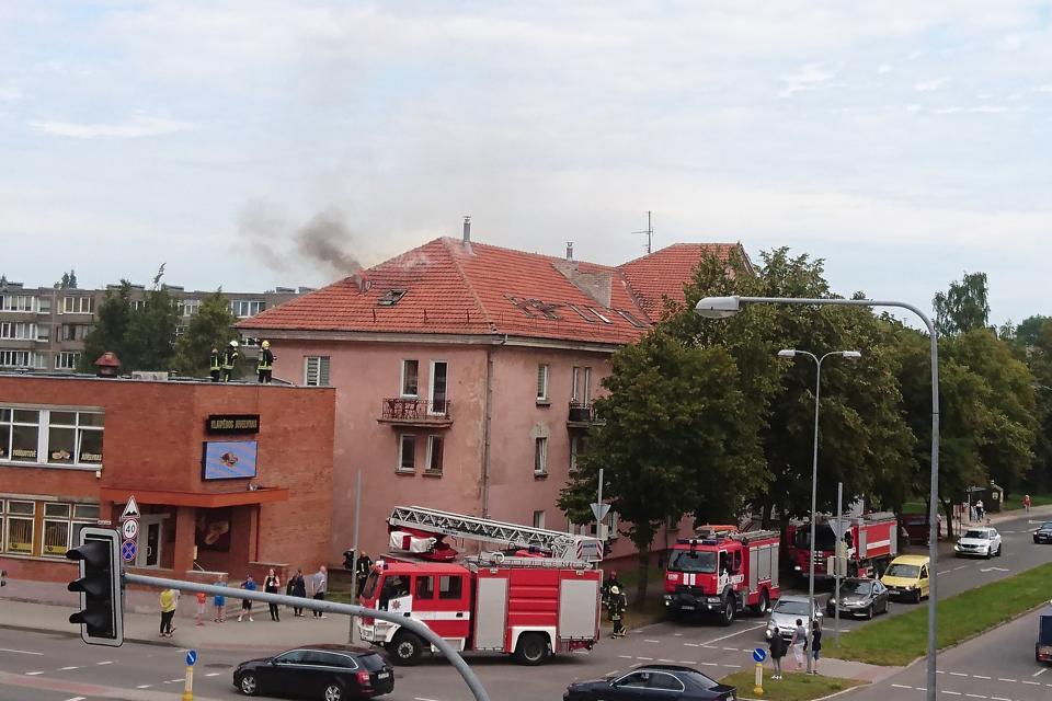 Minijos gatvėje – gaisras