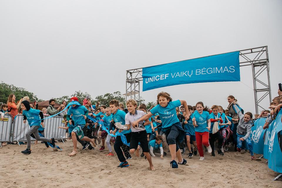 UNICEF vaikų bėgimas startavo Klaipėdoje