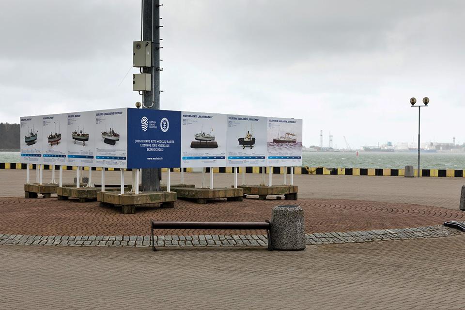 Kruizinių laivų terminale – laivų modelių paroda