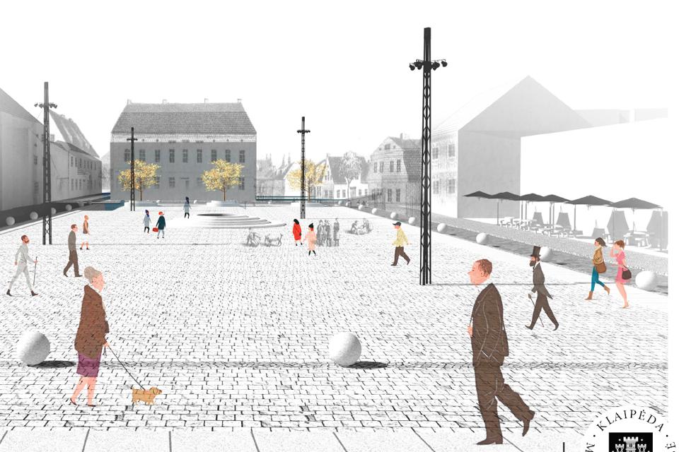 Turgaus aikštės rekonstrukcija: nepasitenkinimas dėl vietų automobiliams