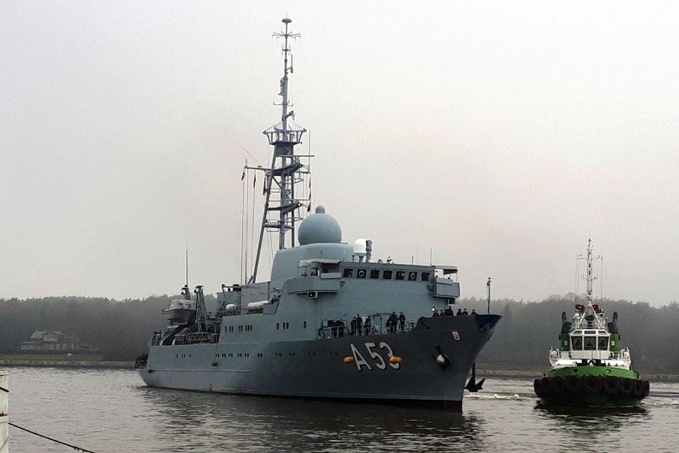 Klaipėdoje – vokiečių karo laivai