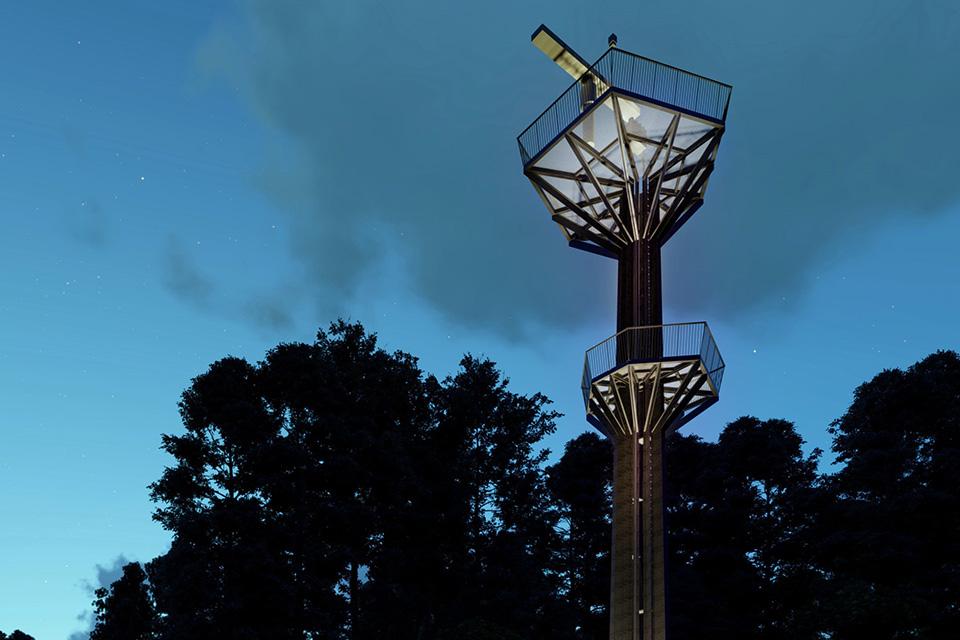 Uosto radaro bokštas primins medžio siluetą