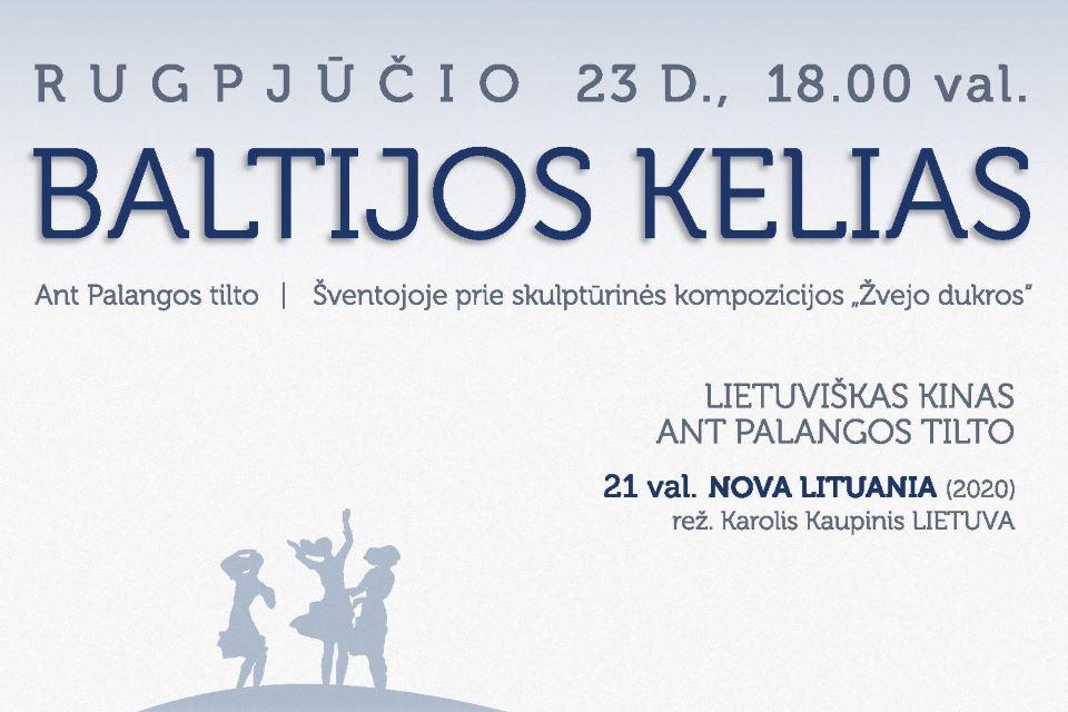 Kviečia paminėti istorinę Baltijos kelio datą