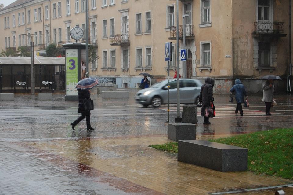 Laukia lietinga ir vėjuota savaitė