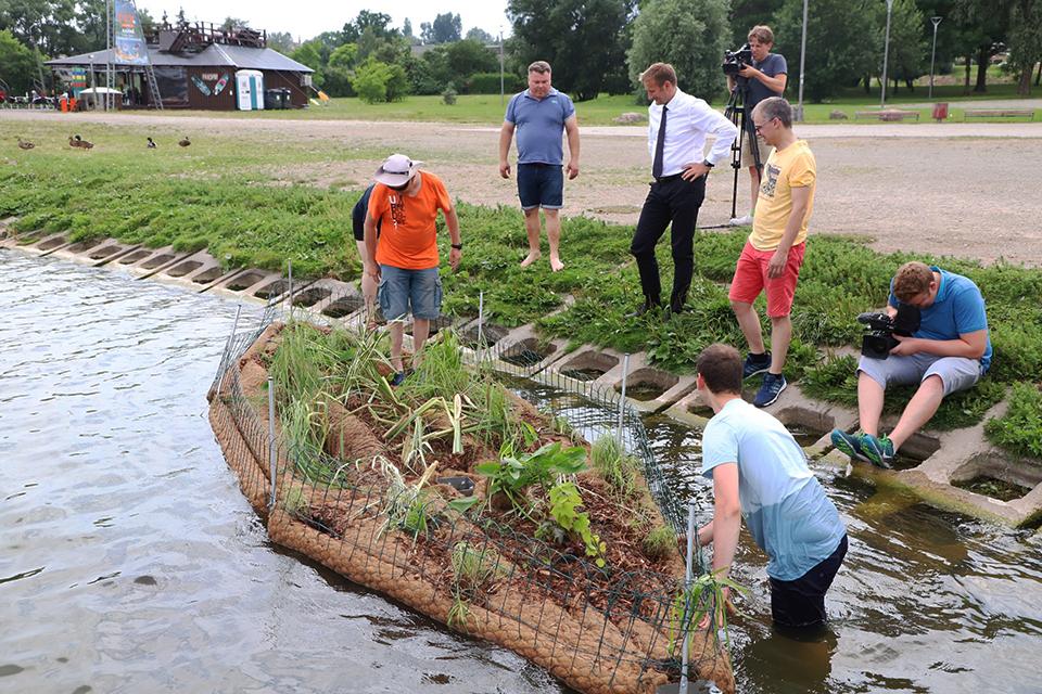 Klaipėdos universiteto mokslininkai Šiauliams sukūrė dirbtinę salą