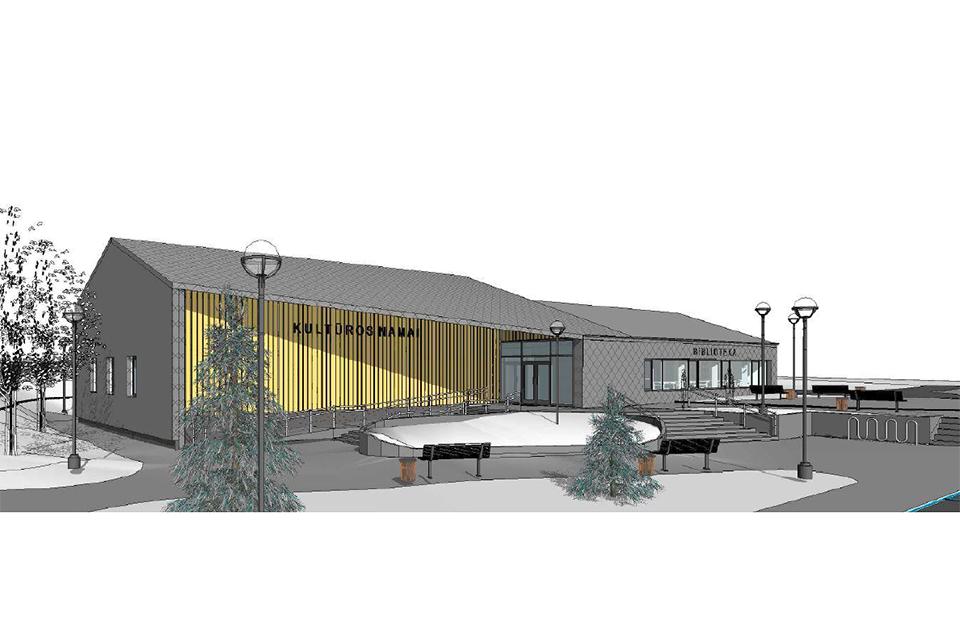 Endriejavo kultūros centro rekonstrukcijai ieško naujo rangovo