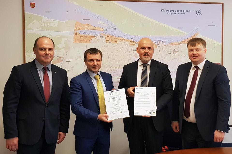 Uosto direkcijoje – sertifikuota antikorupcinė vadybos sistema