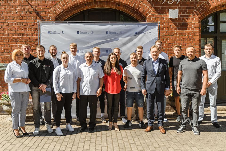 Pagerbti geriausi Klaipėdos universiteto sportininkai