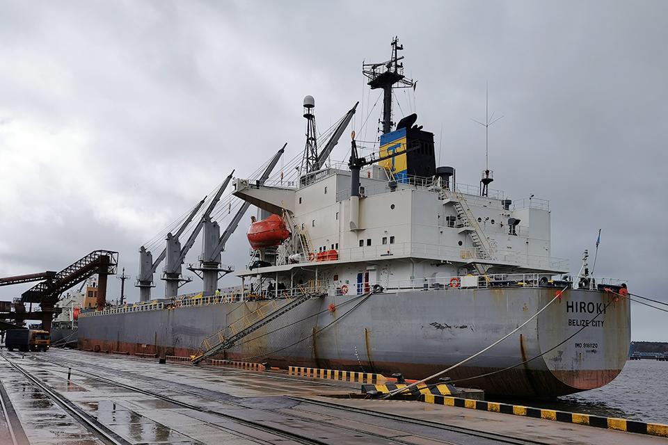 Laivas iš Belizo įtariamas oro tarša