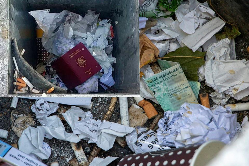 Seniems dokumentams šiukšlių dėžėje – ne vieta