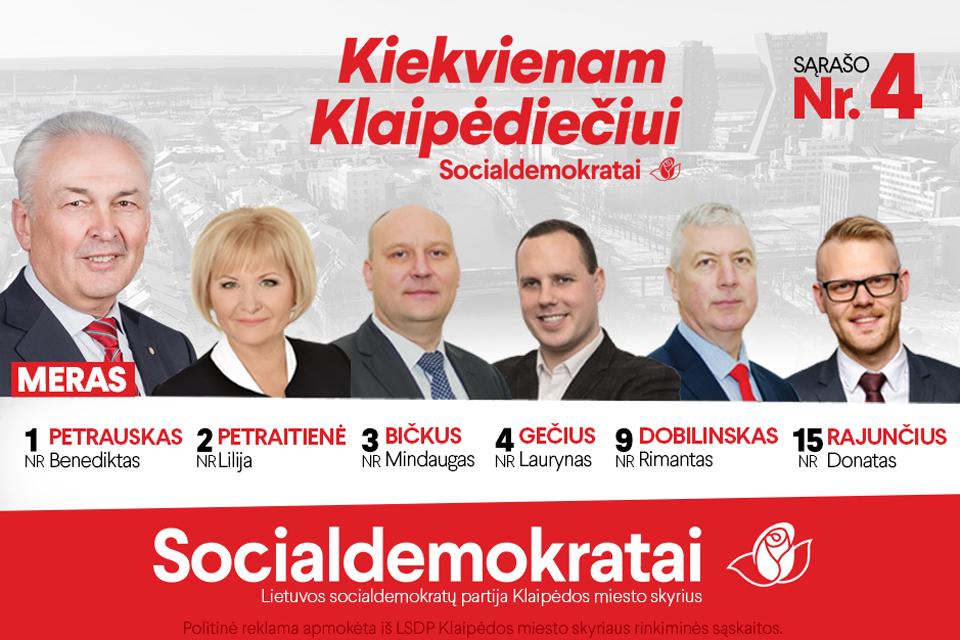 Socialdemokratai: pirmiau investicijos į žmogų, o tik po to į asfaltą
