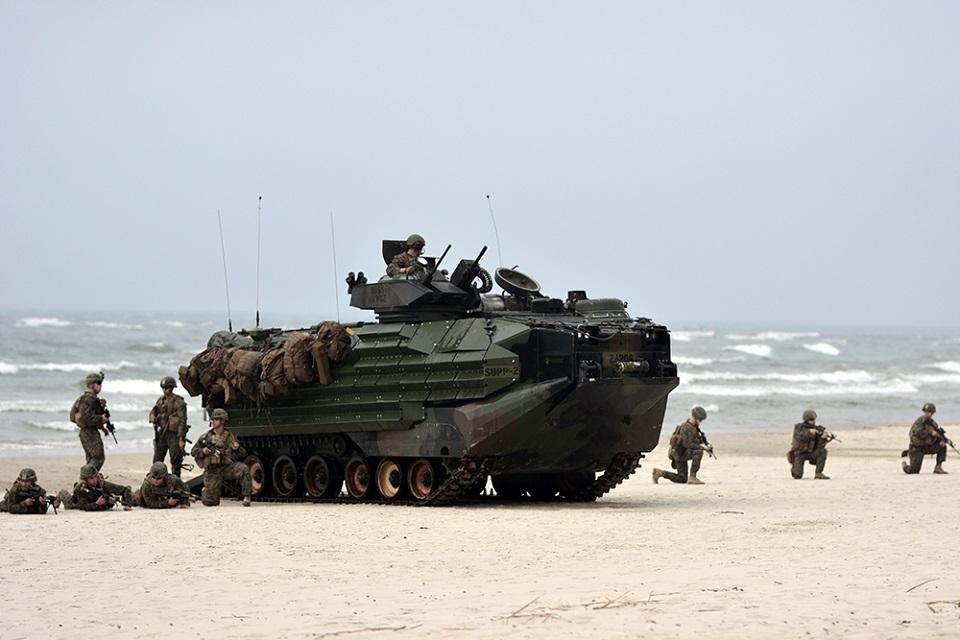 Stebėjo JAV jūrų pėstininkų išsilaipinimą Lietuvos pakrantėje