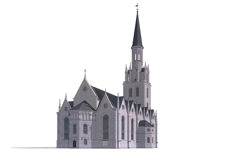 Bažnyčios atstatymas: fasade tik 5 proc. fantazijos