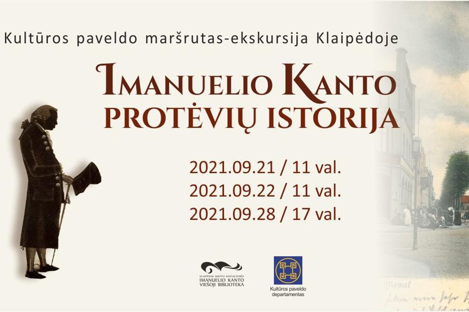 Klaipėdoje bus rengiamos ekskursijos apie Imanuelio Kanto protėvių istoriją