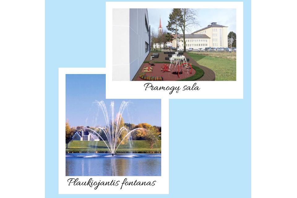 Kretingą papuoš plaukiojantis fontanas ir pramogų sala