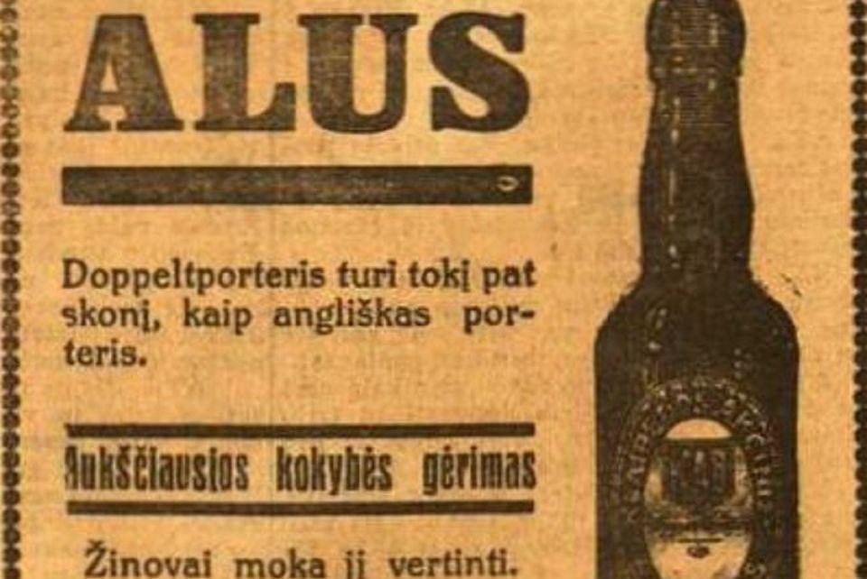 Pristato alaus reklamą tarpukario Lietuvoje
