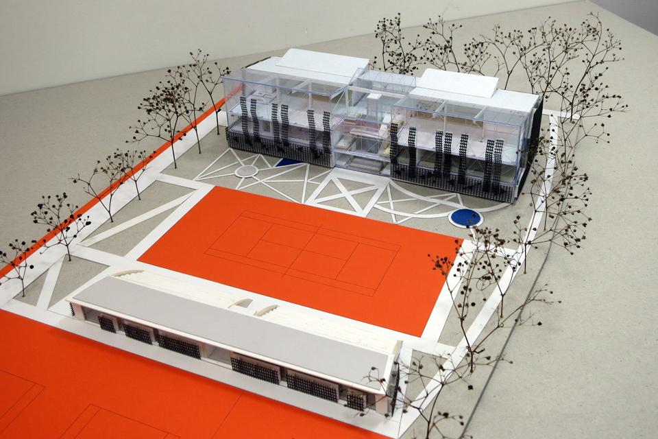 Ekspertai siūlo tobulinti teniso kortų komplekso projektą