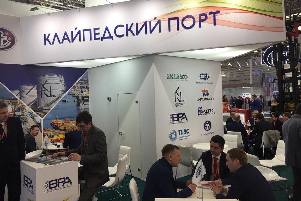 Klaipėdos uostas pristatomas parodoje Rusijoje