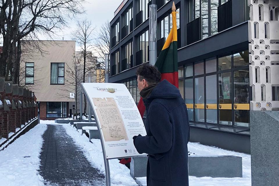 Palangoje – Lietuvos nepriklausomybės akto garso instaliacija