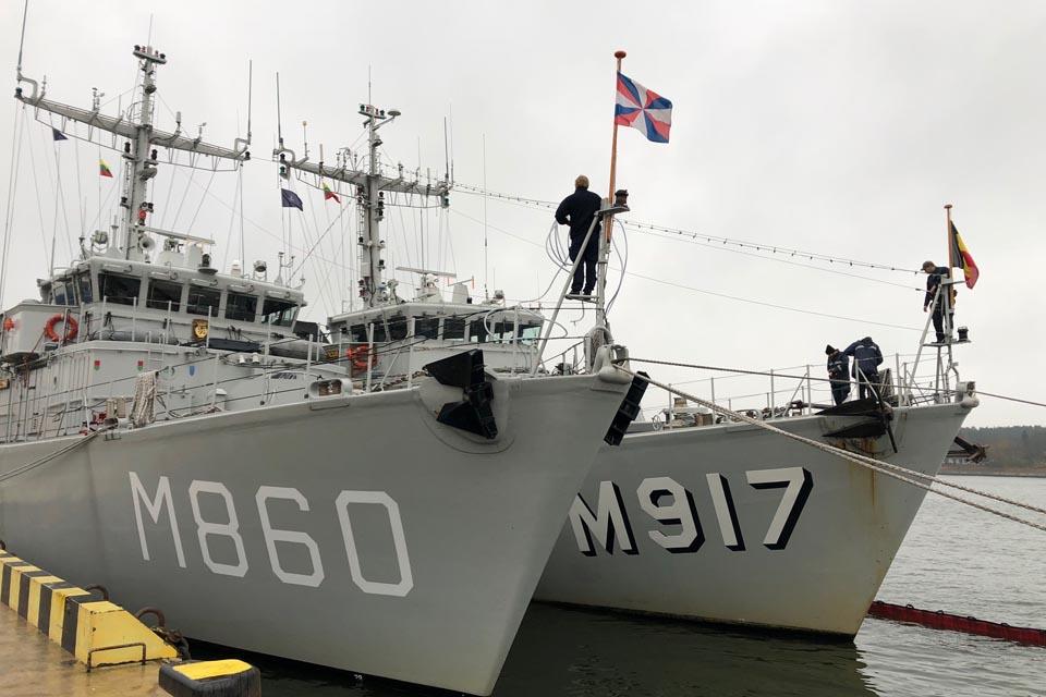 NATO laivų grupė po išminavimo operacijos lankosi Klaipėdoje