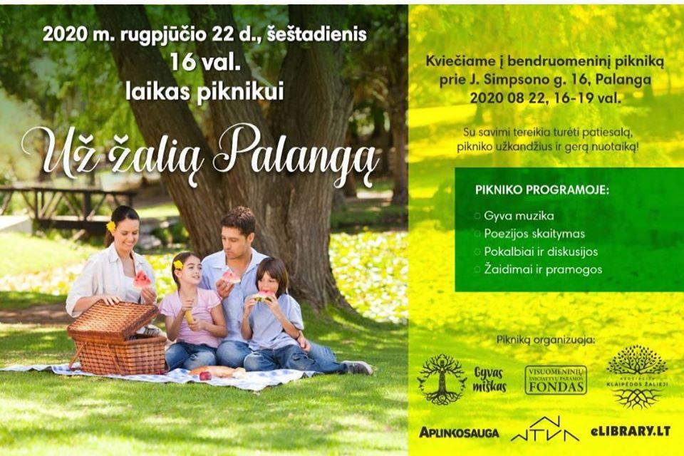 Palangiškiai kviečia į bendruomeninį pikniką už žalias erdves