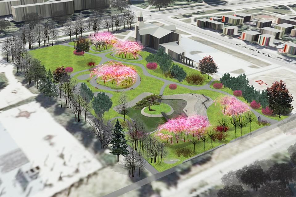 Sakurų parkui Klaipėdoje – keturi pasiūlymai
