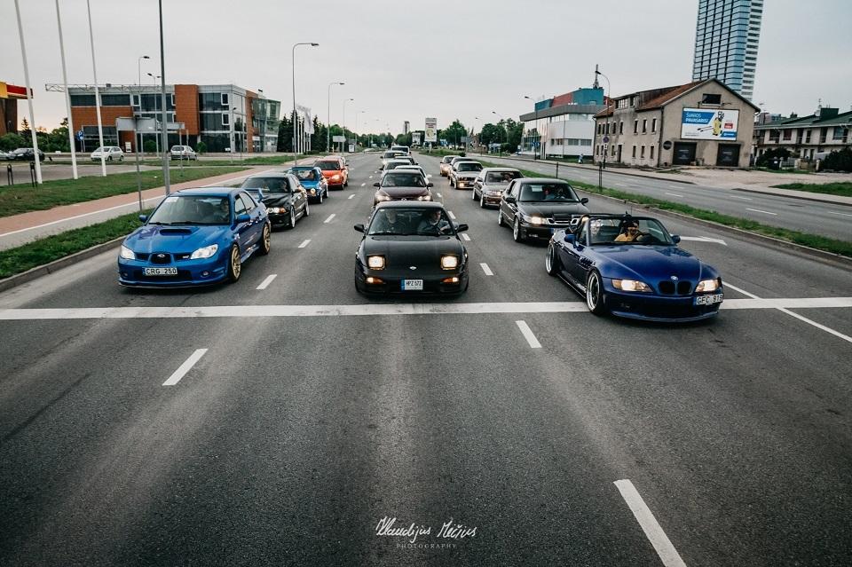 Gargždų gimtadienio proga – automobilių paroda