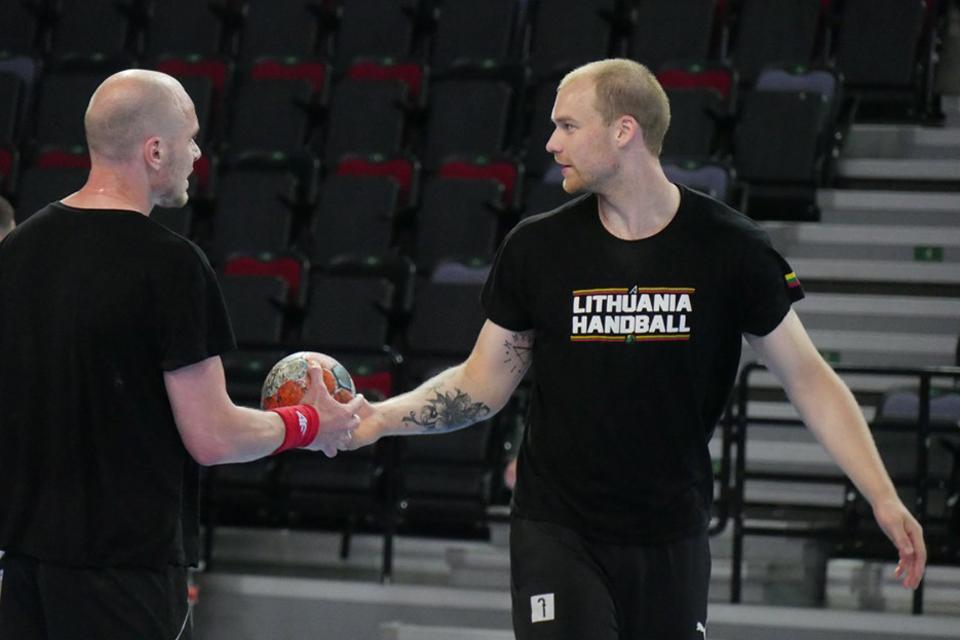 Vyrų rankinio rinktinė ruošiasi rungtynėms su Prancūzija
