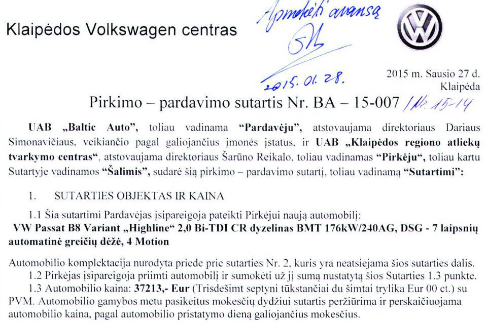 Automobilių naudojimo ypatumai Klaipėdos savivaldos įmonėse