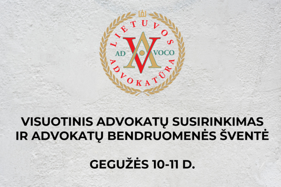 Į Palangą renkasi visos Lietuvos advokatai